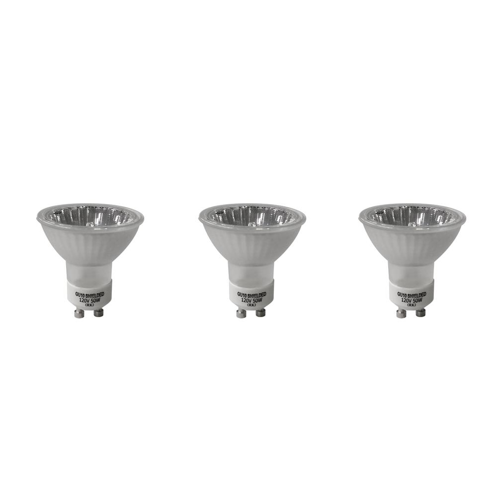 35-Watt MR16 Partial Reflective Flood Halogen Light Bulb (3-Pack)
