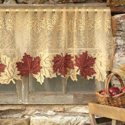 Leaf 60 in. L Polyester Valance in Golden Rod