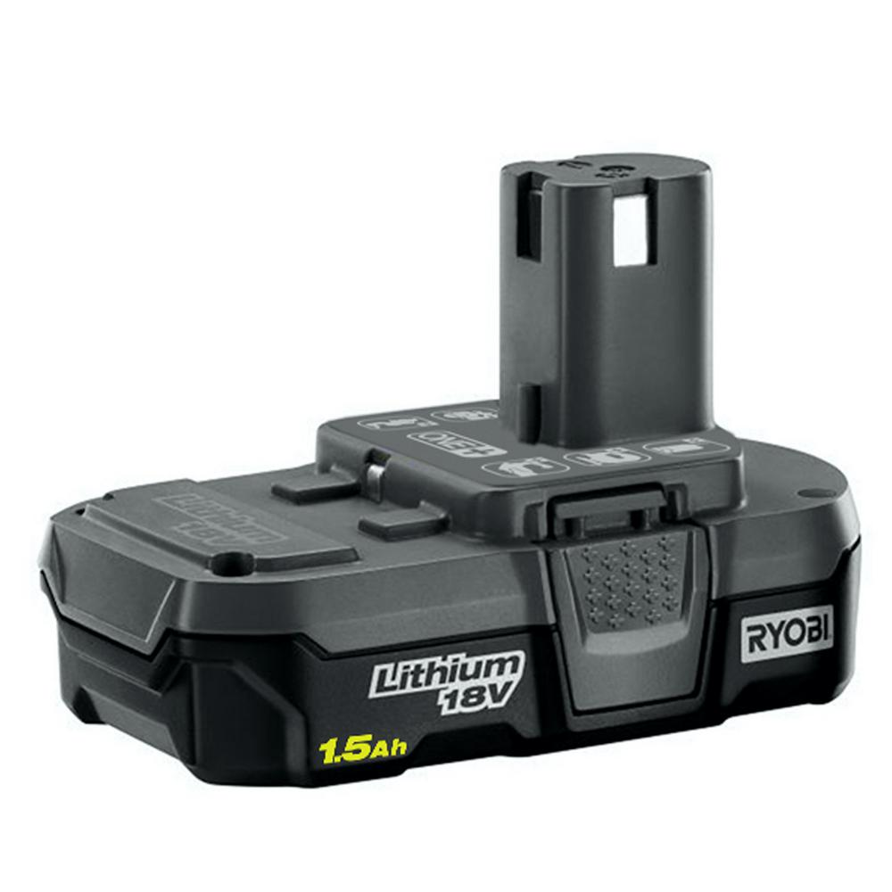 ryobi 18 volt one 1 5ah compact lithium ion battery p189 the home depot. Black Bedroom Furniture Sets. Home Design Ideas