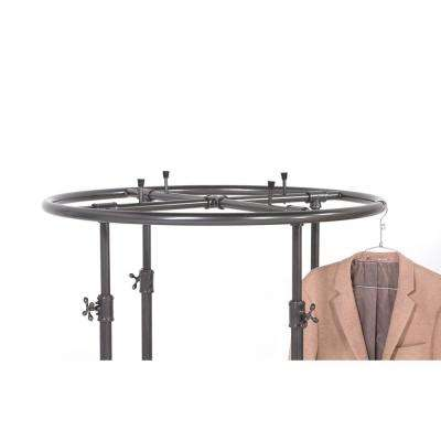 Pipeline 67 in. H x 36 in. W Anthracite Gray Round Garment Rack