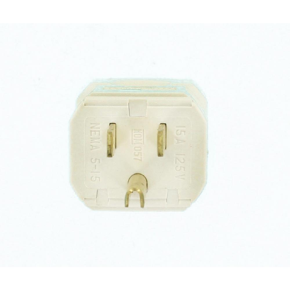 Ge 15 Amp Quick Wire Plug White 2pack54267 The Home Depot