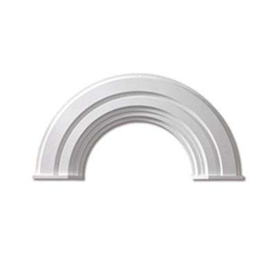 36 in. Inside Width x 18-3/4 in. Inside Height x 2-3/8 in. Polyurethane Half Round Arch Decorative Trim with End Cap