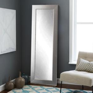 Mod Euro Silver Full Length Framed Mirror by