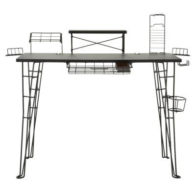 Outstanding Atlantic Black Gaming Desk 33935701 The Home Depot Download Free Architecture Designs Grimeyleaguecom