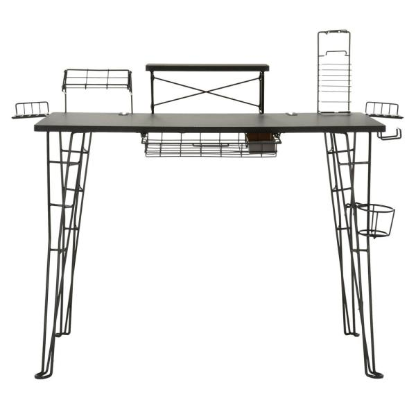 Astounding Atlantic Black Gaming Desk 33935701 The Home Depot Download Free Architecture Designs Grimeyleaguecom