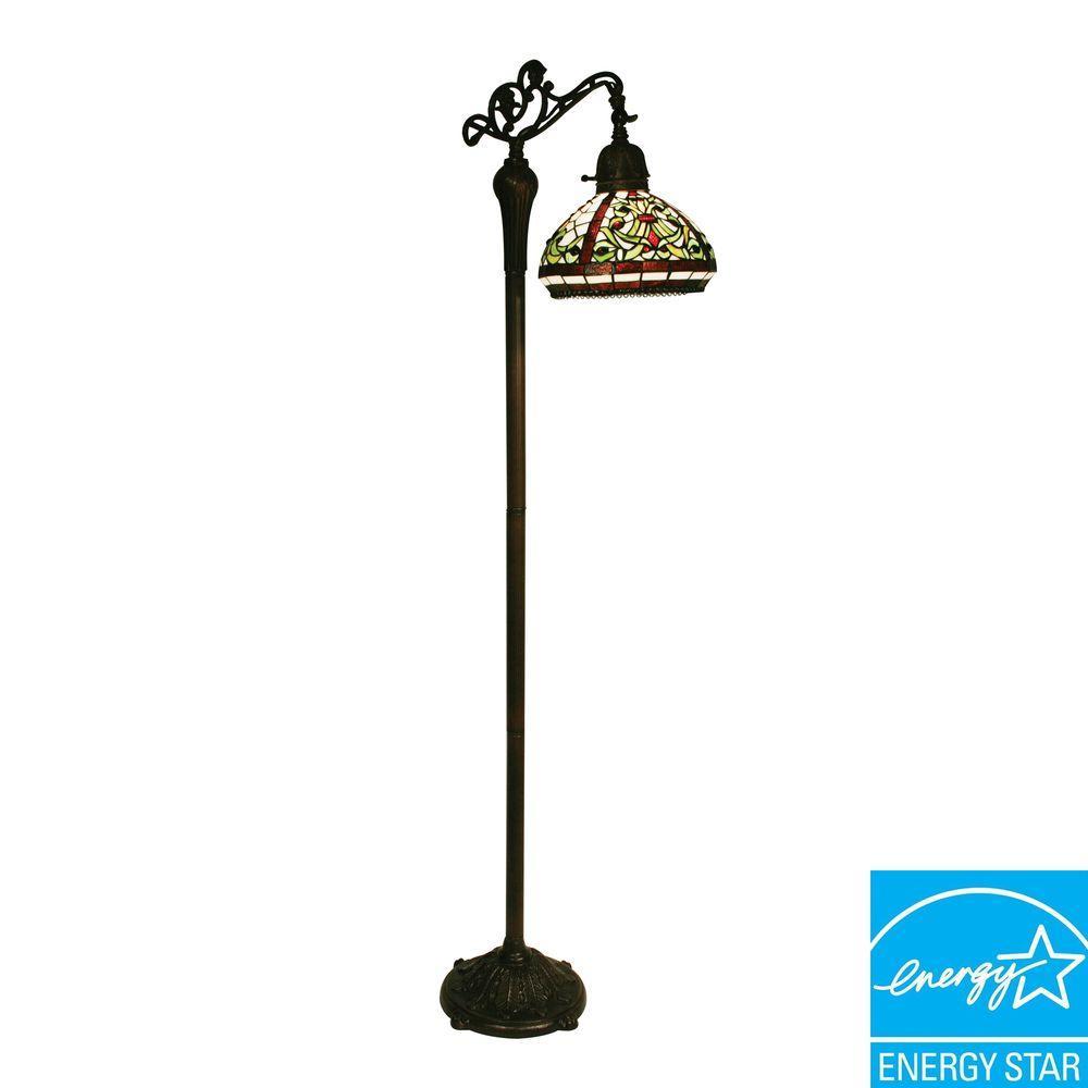 Tulen Lawrence 62.5 in. Chestnut Bronze Incandescent Floor Lamp-DISCONTINUED
