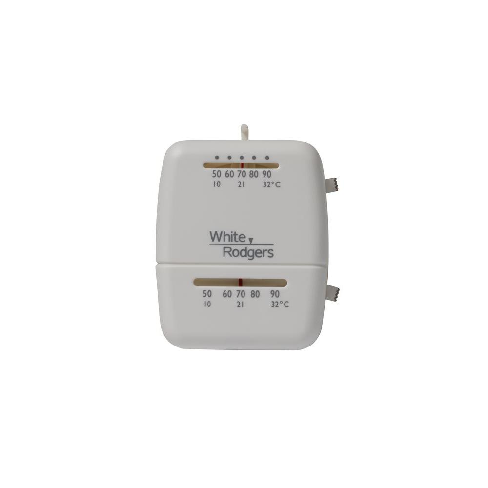 White Rodgers M100 Heat Cool Mechanical Non Programmable Thermostat M100 The Home Depot