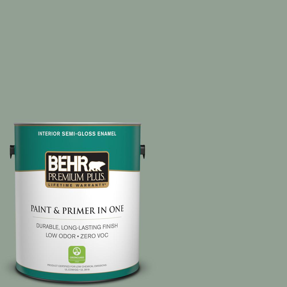 BEHR Premium Plus 1-gal. #N400-4 Forest Path Semi-Gloss Enamel Interior Paint