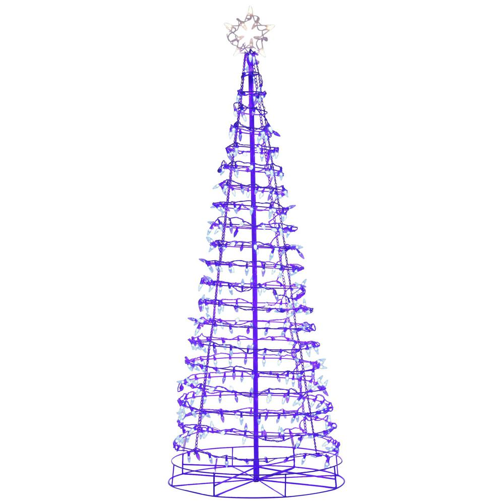 HomeAccentsHoliday Home Accents Holiday 75 in. Pre-Lit Christmas Tree with Warm White and Blue LED Lights