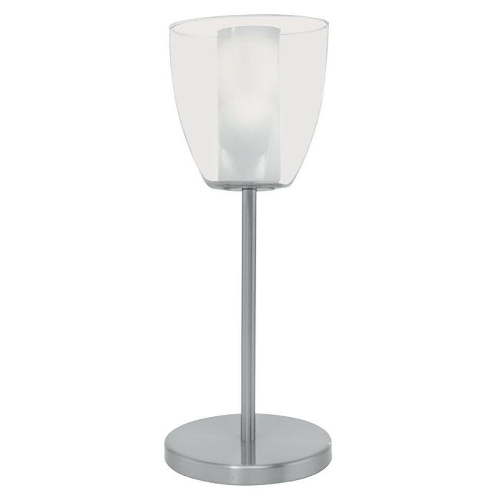 Eglo Olbia 16 in. 40-Watt Matte Nickel Table Lamp
