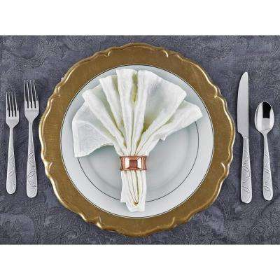 13 in. Dia Reflection Gold Charger Plates (Set of 12)
