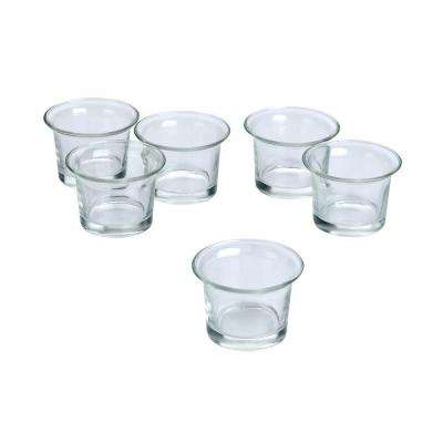 Clear Glass Lip Votive Candle Holders (Set of 12)