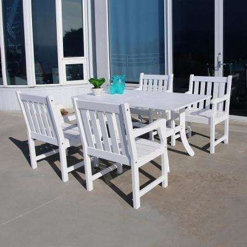 Bradley Wood 5-Piece Outdoor Dining Set