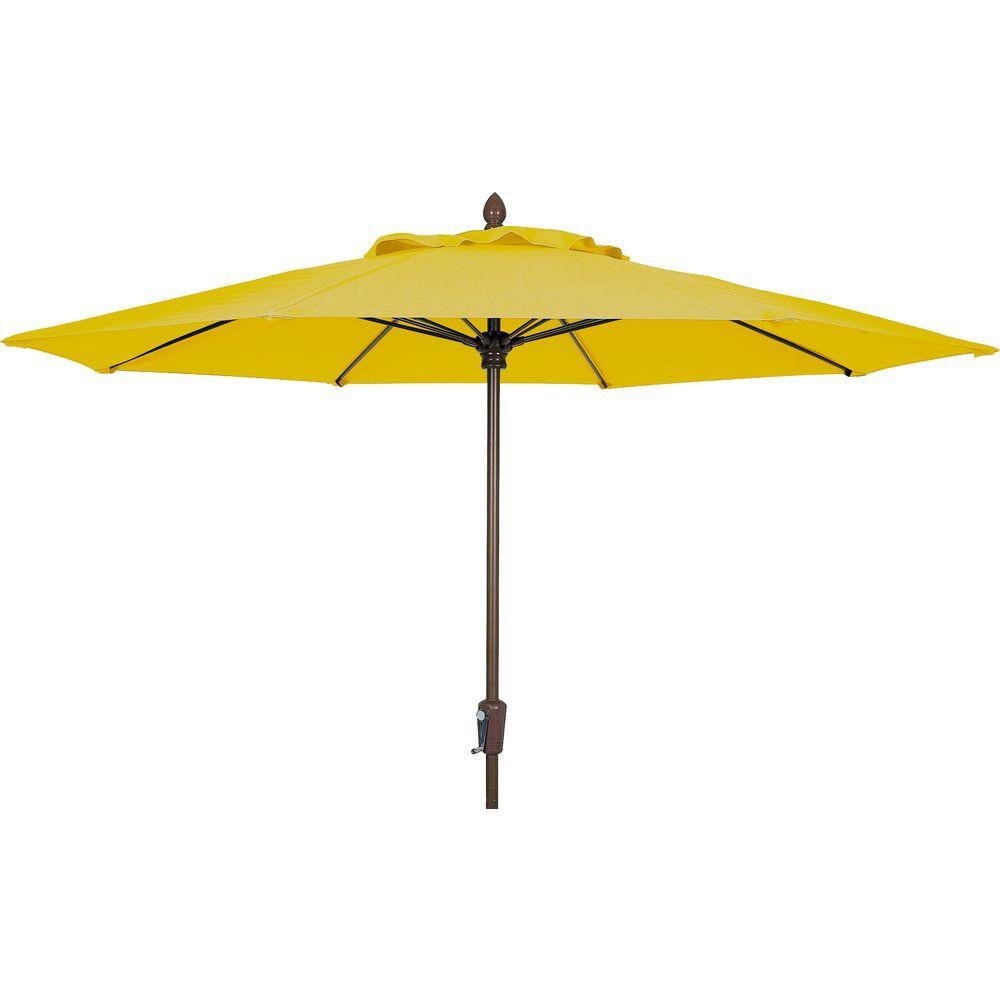 Fiberbuilt Umbrellas 9 ft. Patio Umbrella in Sunflower Yellow-DISCONTINUED