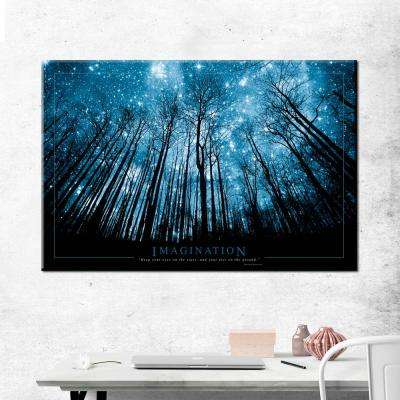 "24 in. x 36 in. ""Imagination - Stars"" Printed Canvas Wall Art"