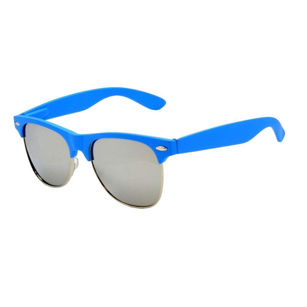 Retro Neon Blue Club Master Sunglasses