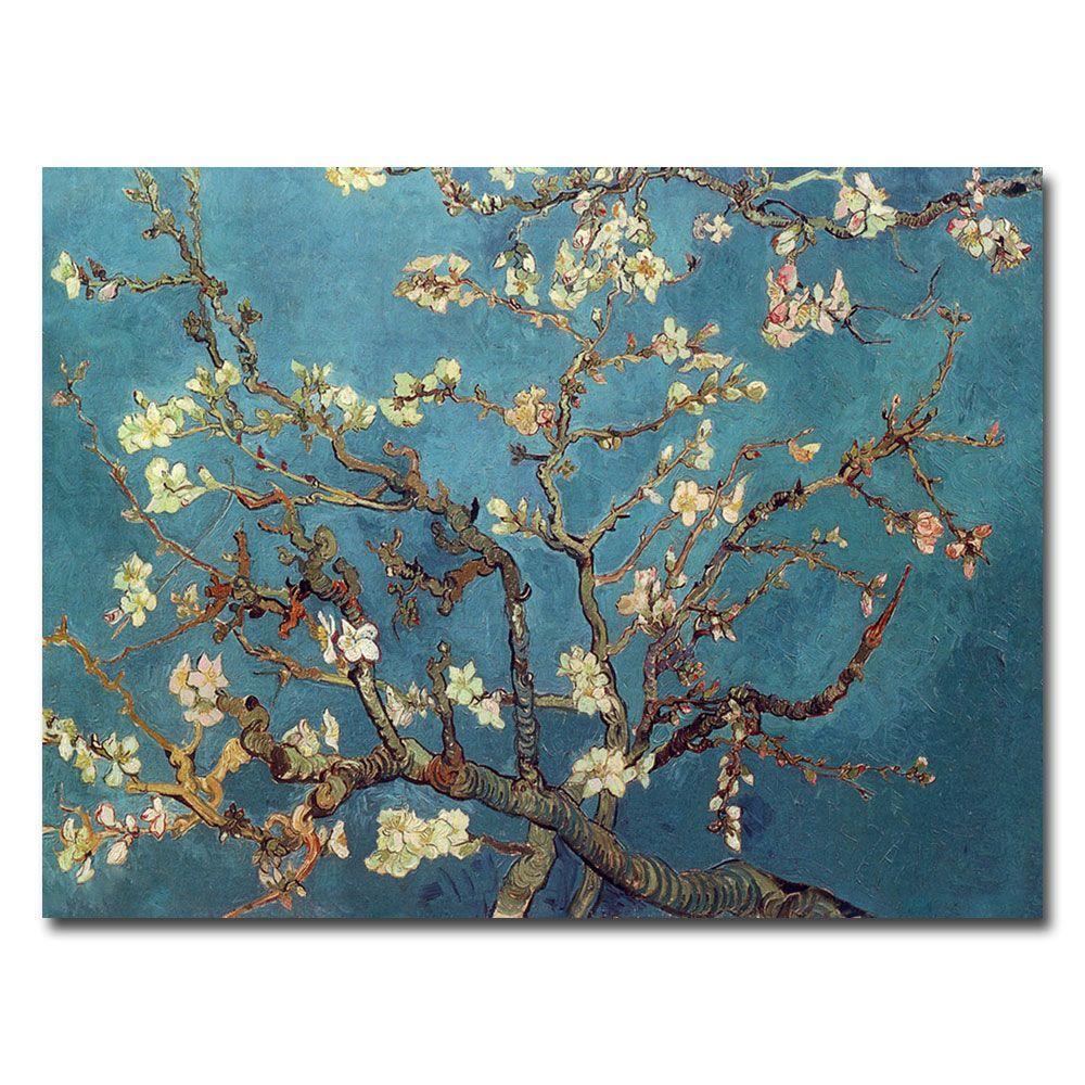 14 in. x 19 in. Almond Blossoms Canvas Art