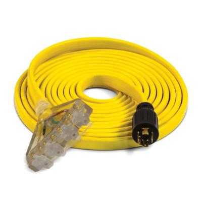 25 fts. 30 Amp 125/250-Volt Fan-Style Flat Generator Extension Cord