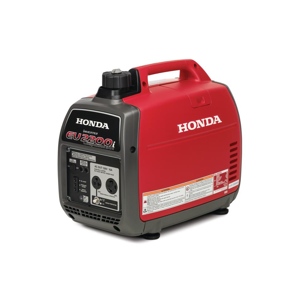 Honda 2,200-Watt Super Quiet Gasoline Powered Portable Companion Inverter Generator with Eco-Throttle and 30 Amp Outlet