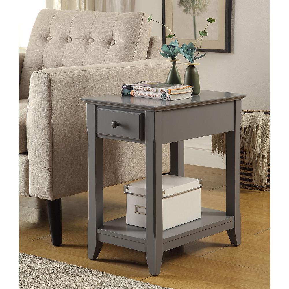 Bertie Gray Storage Side Table
