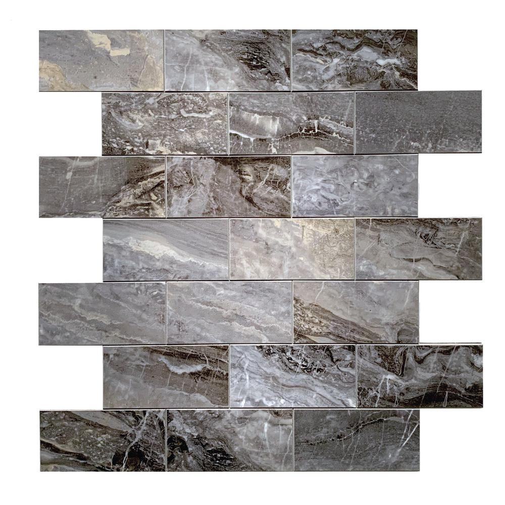 - DIP Design Is Personal DIP Dark Travertine Subway Self-Adhesive