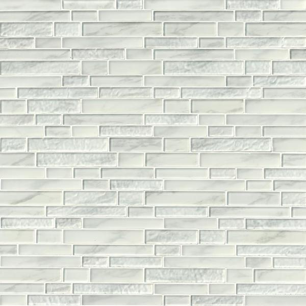 Calypso Interlocking 12 in. x 13 in. x 8mm Glass Mesh-Mounted Mosaic Tile (10.4 sq. ft. / case)