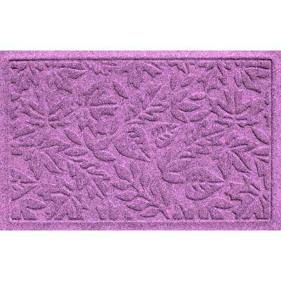 Aqua Shield Fall Day Purple 17.5 in. x 26.5 in. Door Mat