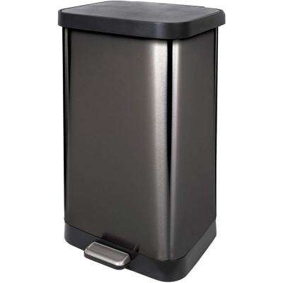 20 Gal. Stainless Steel Step Can with Antimicrobial Lid, Pewter
