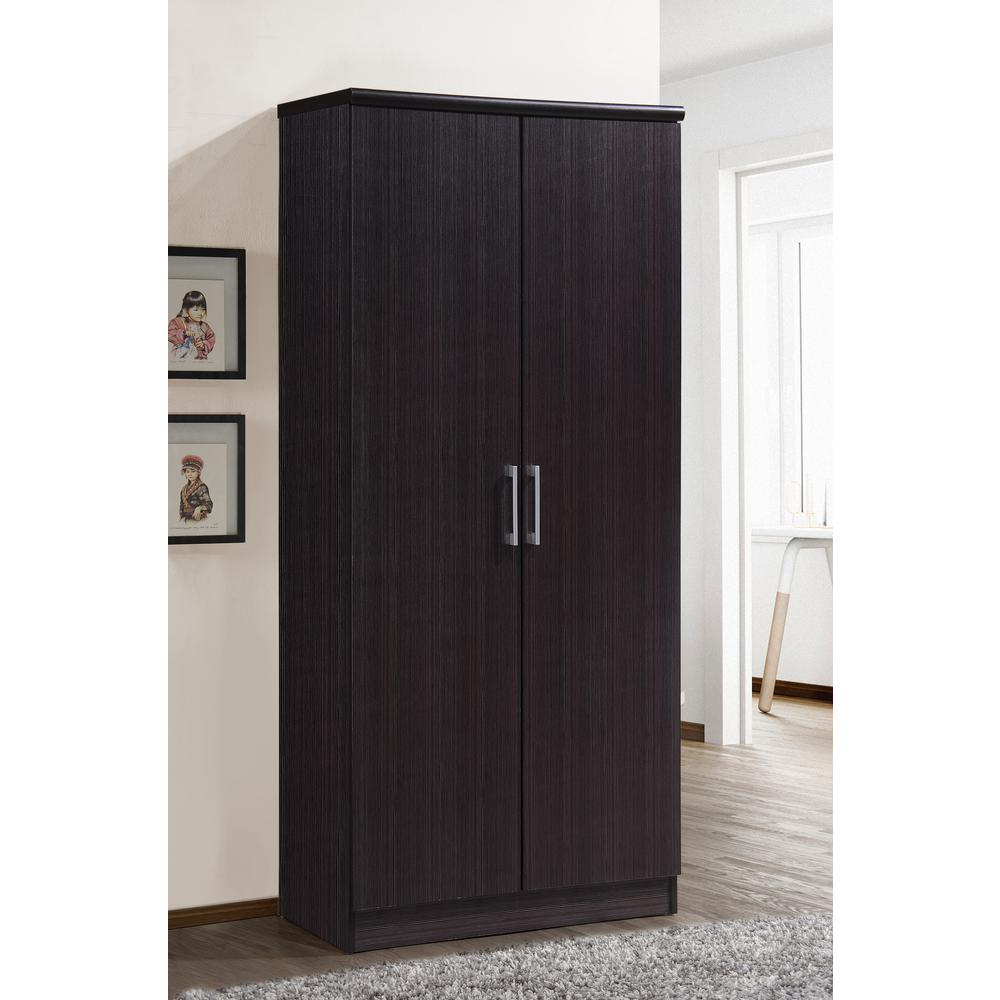 This Review Is From:2 Door Chocolate Armoire With Shelves