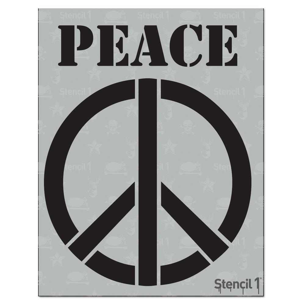 Stencil1 Peace Sign Stencil S101115 The Home Depot