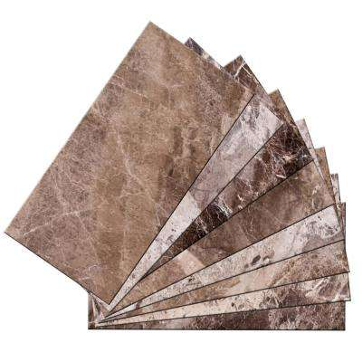 3 in. x 6 in. x 2mm Skinny Peel and Stick Glass Skin Wall Mosaic Tile (12 sq. ft. / set of 96)