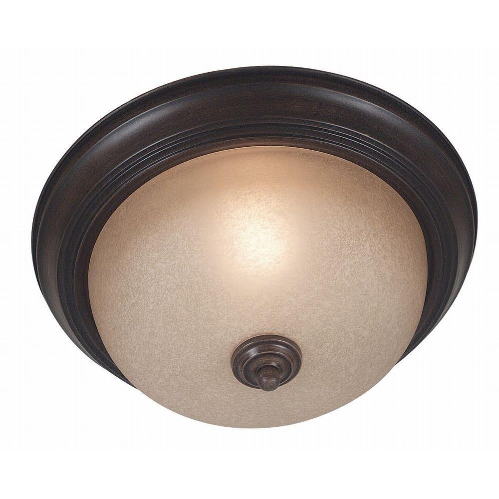 Kenroy Home Triomphe 1-Light Cocoa Flushmount