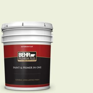 Behr Premium Plus 5 Gal P370 1 Moths Wing Flat Exterior Paint And Primer In One 405005 The Home Depot