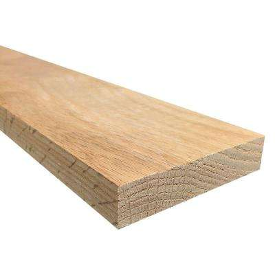 1 in. x 4 in. x Random Length S4S Oak Board