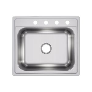 Pergola Drop-In Stainless Steel 25 in. 4-Hole Single Bowl Kitchen Sink