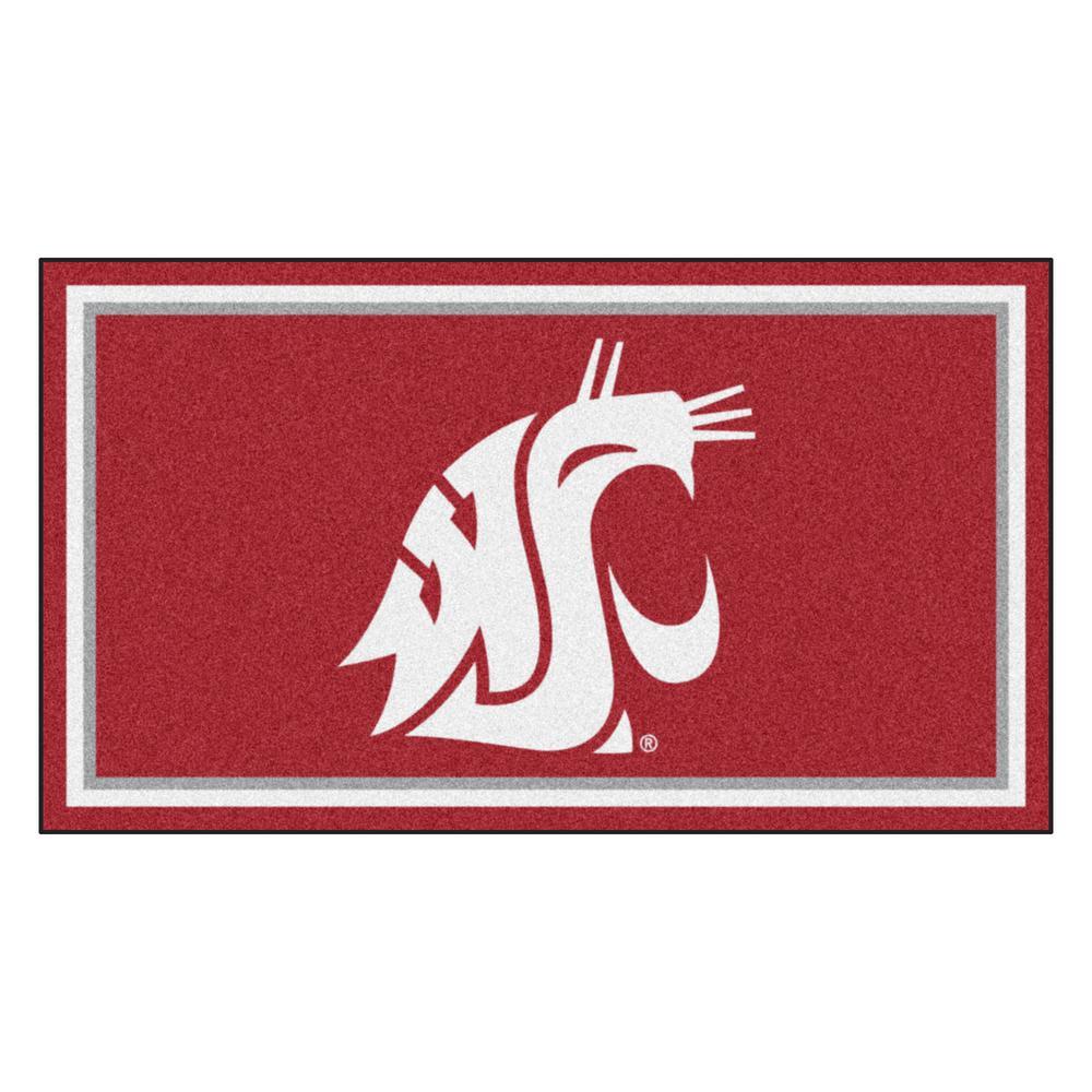 NCAA Washington State University 3 ft. x 5 ft. Ultra Plush Area Rug