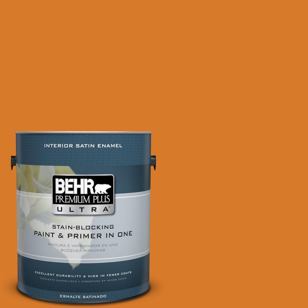 1-gal. #270B-7 Bonfire Satin Enamel Interior Paint