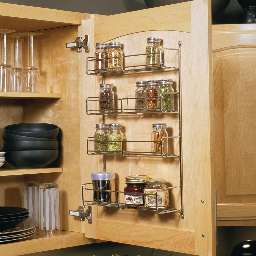 Kitchen Cabinet Spice Rack Organizer: Knape & Vogt 20 In. X 10.81 In. X 3.88 In. Door Mounted