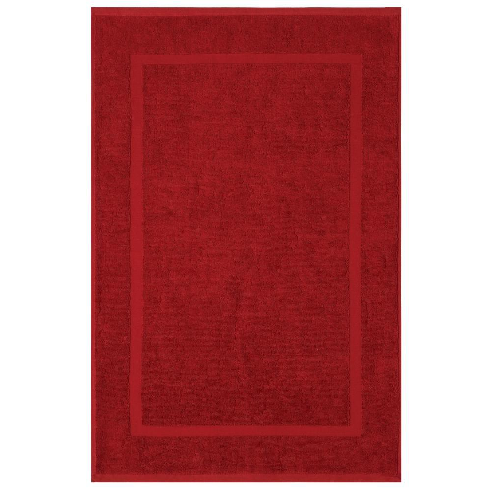 Newport Garnet Red 20 in. x 34 in. Egyptian Cotton Bath