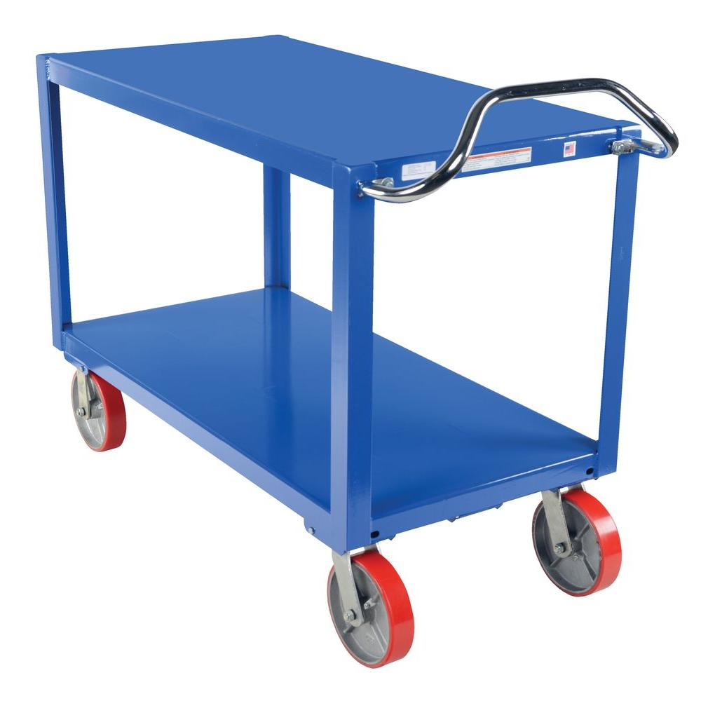 Vestil 30 in. x 60 in. 3,600 lb. Heavy Duty Ergo Handle Cart with Casters