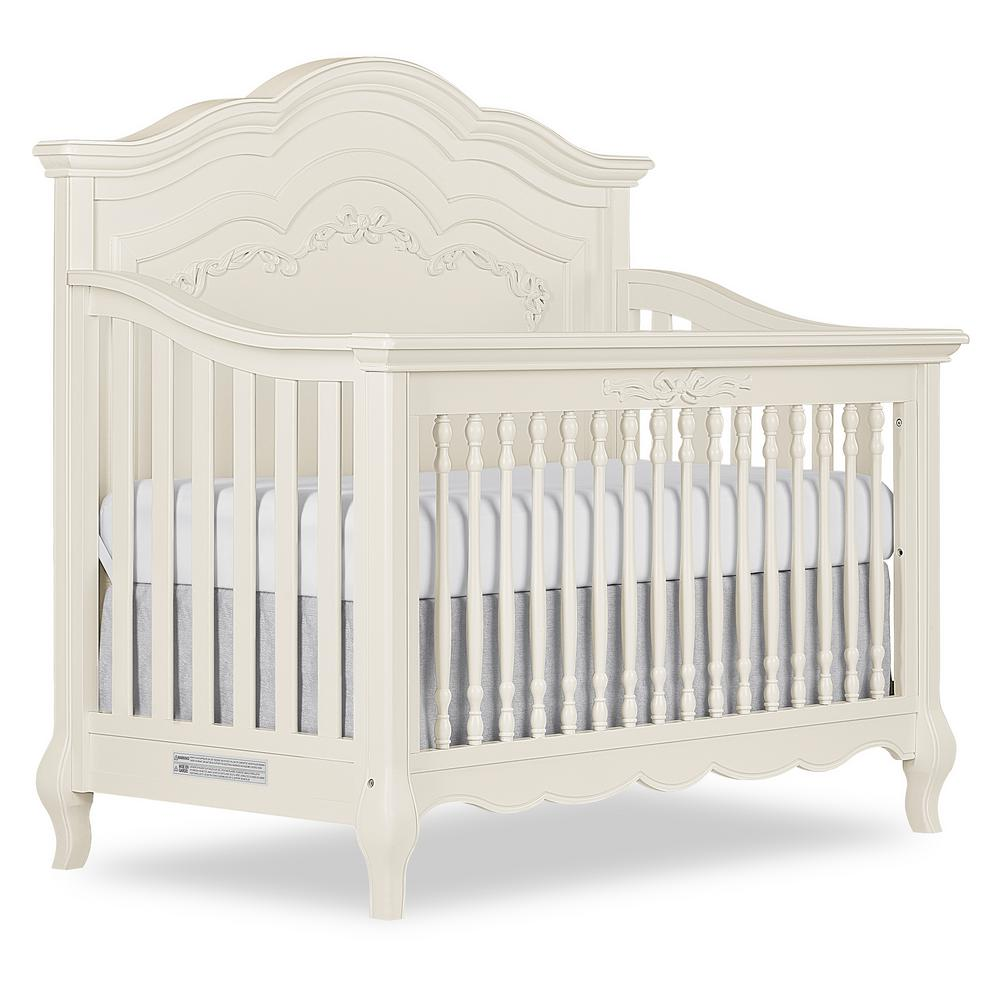 Aurora Ivory Lace Pearl 5-in-1 Convertible Crib