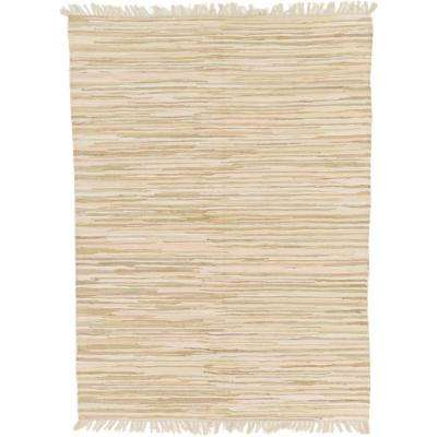 Kilim Dhurrie Ivory 5 ft. 7 in. x 7 ft. 10 in. Area Rug