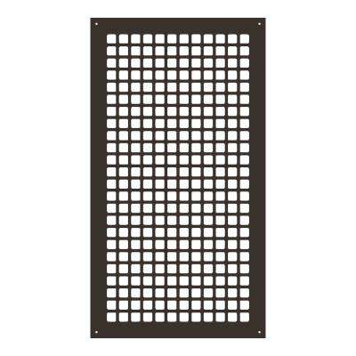 Square Series 24 in. x 12 in. Steel Grille, Oil Rubbed Bronze with Mounting Holes