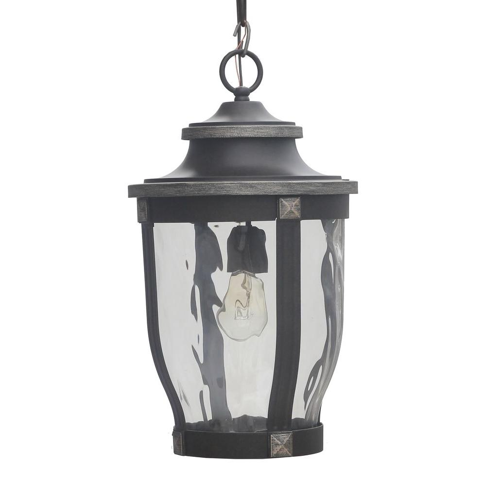 Outdoor Hanging Lighting Outdoor hanging lights outdoor ceiling lighting the home depot mccarthy 1 light bronze outdoor chain hung lantern workwithnaturefo