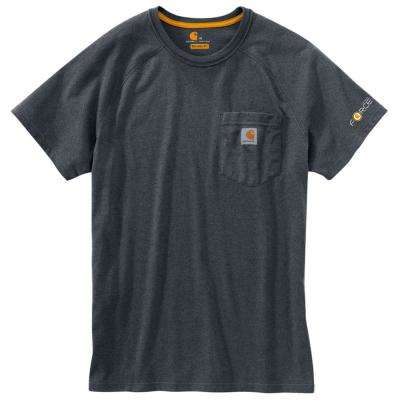 Force Delmont Men's Regular Small Granite Heather Cotton Short Sleeve T-Shirt