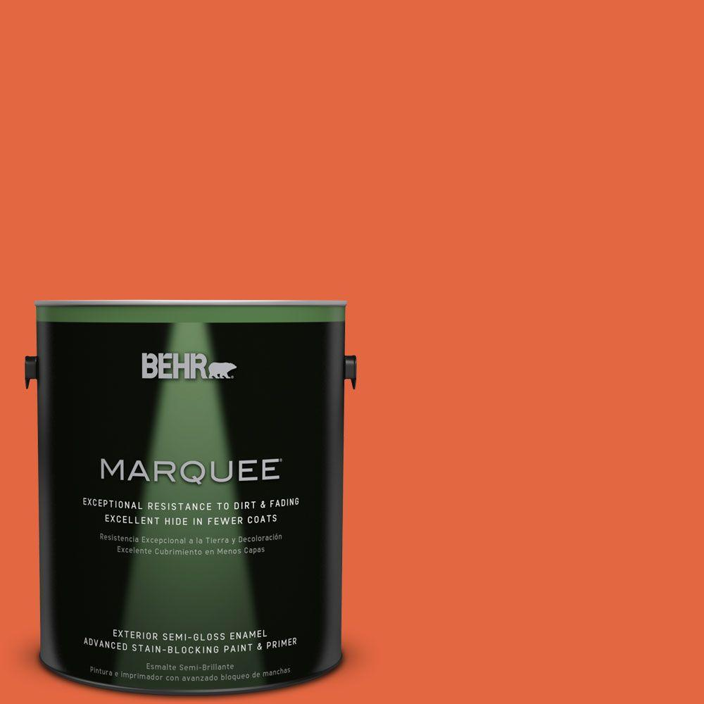 BEHR MARQUEE 1-gal. #P190-6 Emergency Zone Semi-Gloss Enamel Exterior Paint