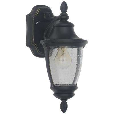 Wilkerson 1-Light Black Outdoor Wall Mount