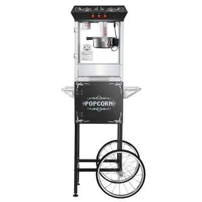 8 oz. Movie Night Black Popcorn Machine with Cart