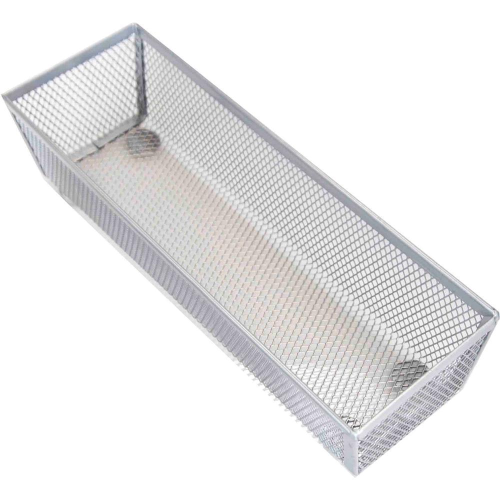 Home Basics Mesh Steel Silver Drawer Organizer