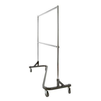 1.25 in. x 60 in. Chrome Round Tubing Add-On Hangrail for Garment Rack